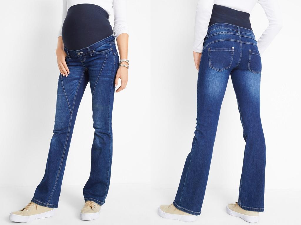 BPC Spodnie dzwony ciążowe z pasem na brzuch 52/5X