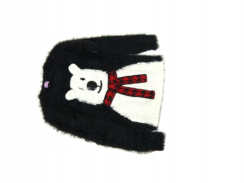 F&F____ sweter włochaty miś___ 128