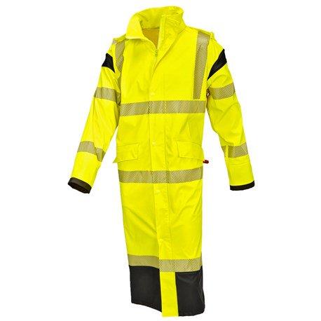 Płaszcz kurtka przeciwdeszczowa ostrzegawcza odbla
