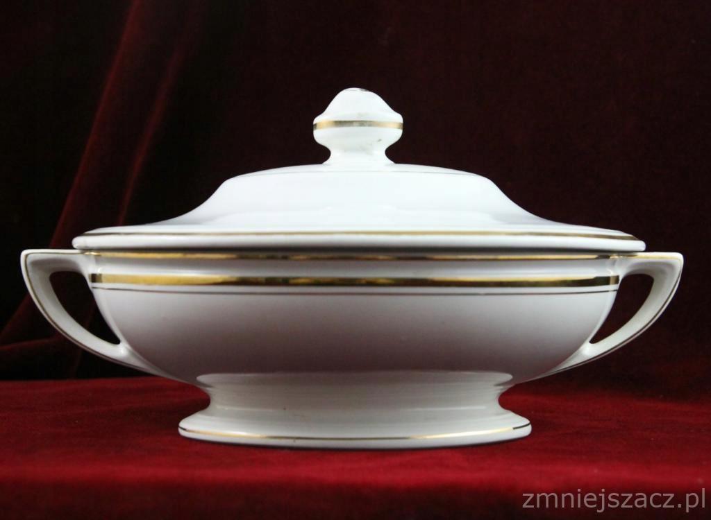Złocona Porcelanowa Waza Art Deco Villeroy Bosch