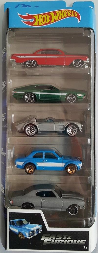 Zestaw Hot Wheels Fast & Furious pięciopak