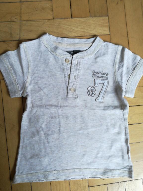 koszulka beżowa 86 h&m guziczki numerek