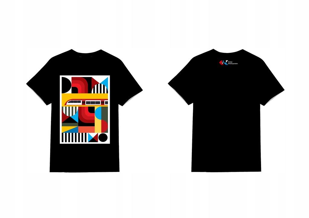 Unikatowa koszulka Kolei Wielkopolskich z grafiką