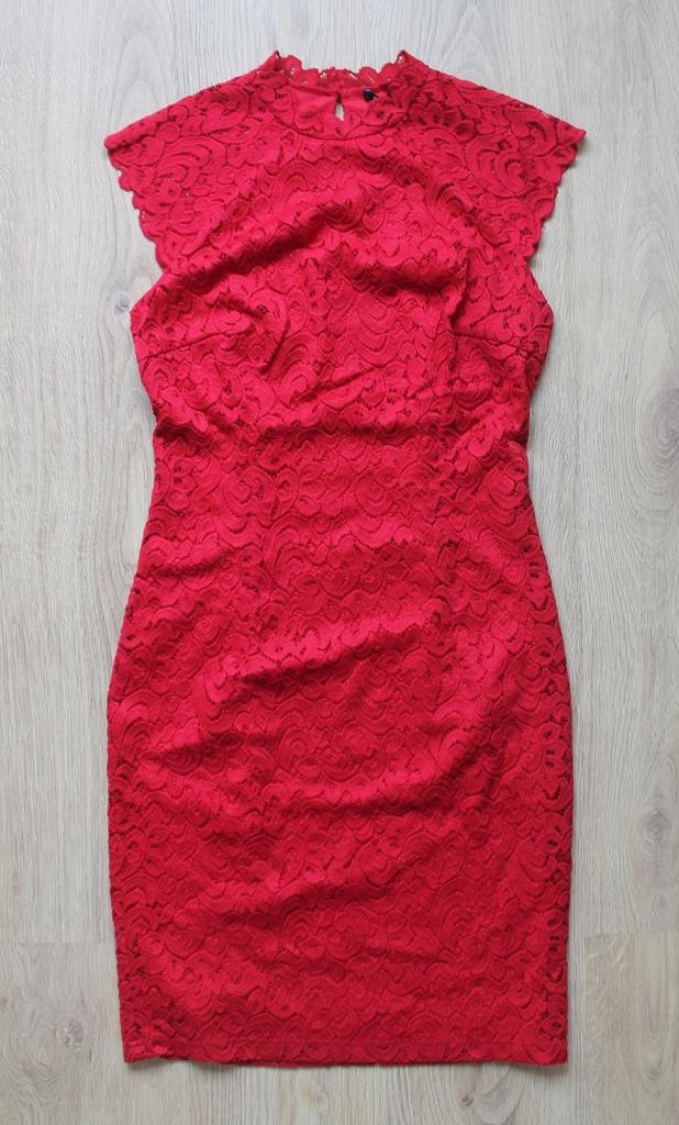ORSAY Sukienka KORONKOWA koronka CZERWONA M NEW%