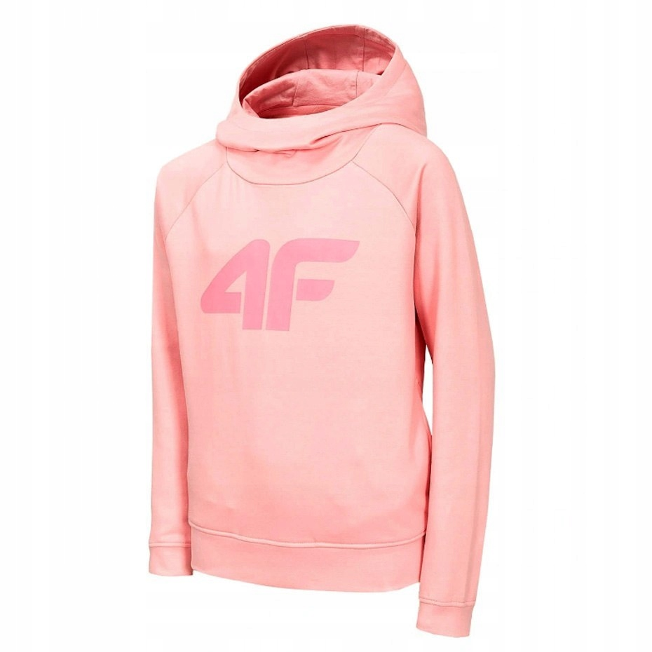 Bluza z kapturem dla dziewczynki 4F różowa 128 cm