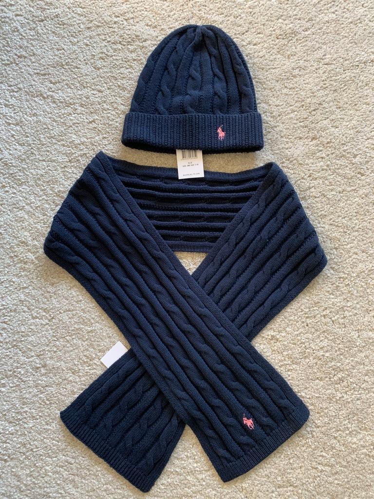Ralph Lauren czapka szalik 7-12