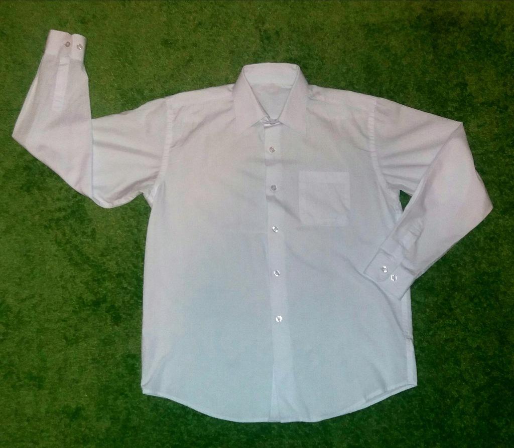 Koszula biała George 158 cm długi rękaw
