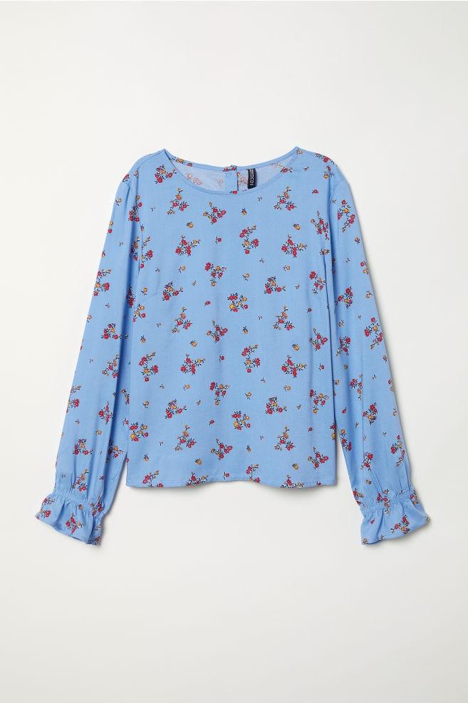 bluzka z wiskozy wzorzysta bluzka H&M 36 S B59