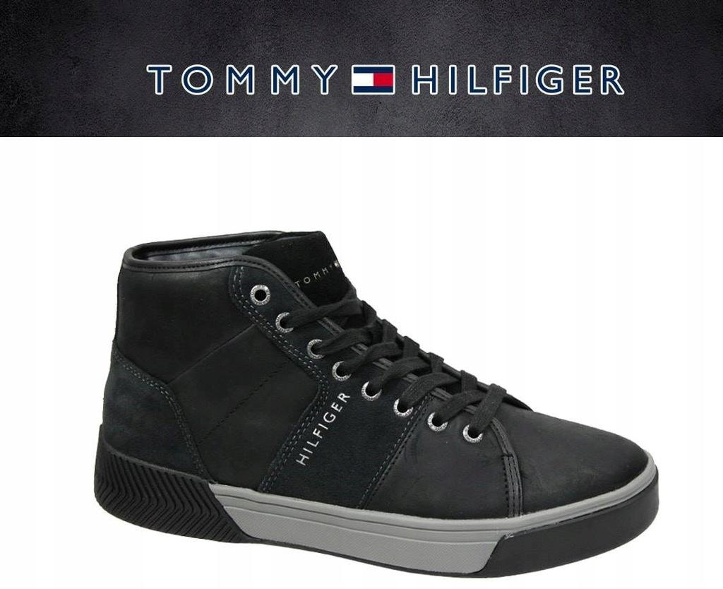 Buty Tommy Hilfiger 01680 Black Sneakersy 42