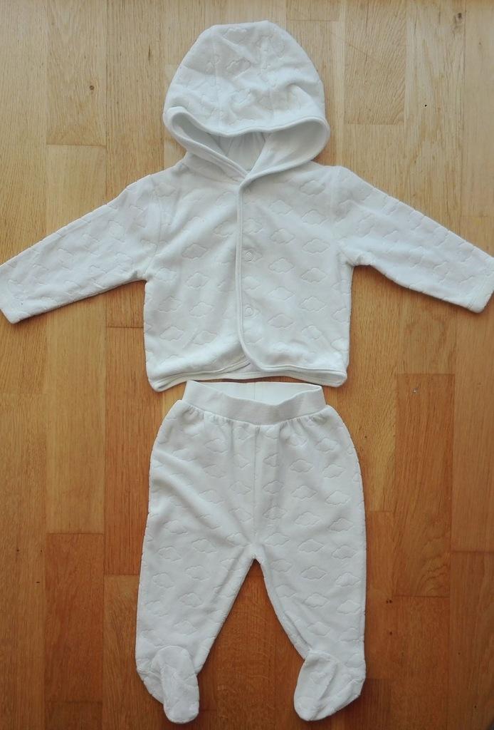 Komplet bluza półśpiochy C&A biały 68
