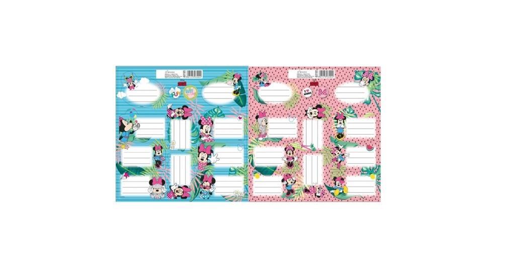 Naklejki na zeszyty Minnie Mouse +ZAKŁADKA