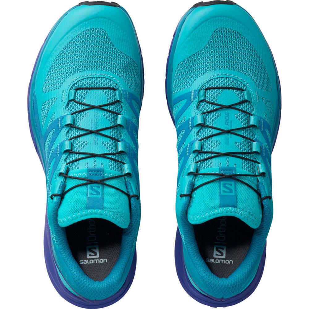 buty damskie salomon sense ride w niebiesko-błękitne