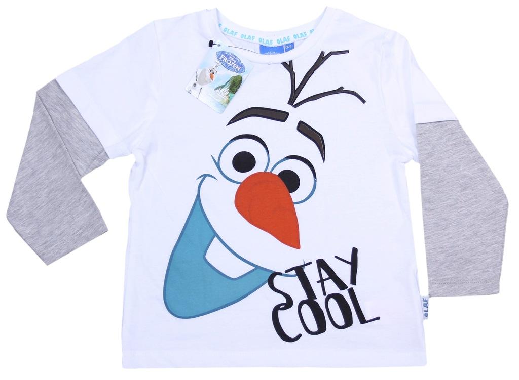 Koszulka OLAF Kraina Lodu PRIMARK 4-5 lat 110 cm