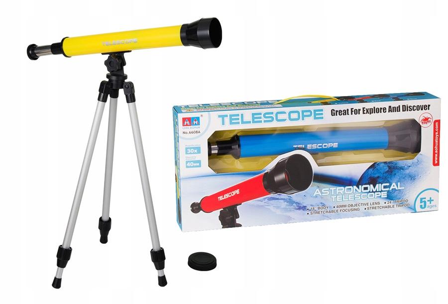 LUNETA na statywie - obiektyw 30mm teleskop żółty