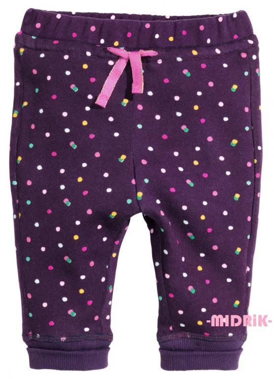 H&M spodnie dresowe NOWE r 92 kropki ściągacze