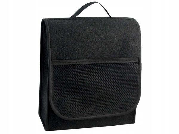 Torba do bagażnika z kieszenią 35x26x12cm czarna