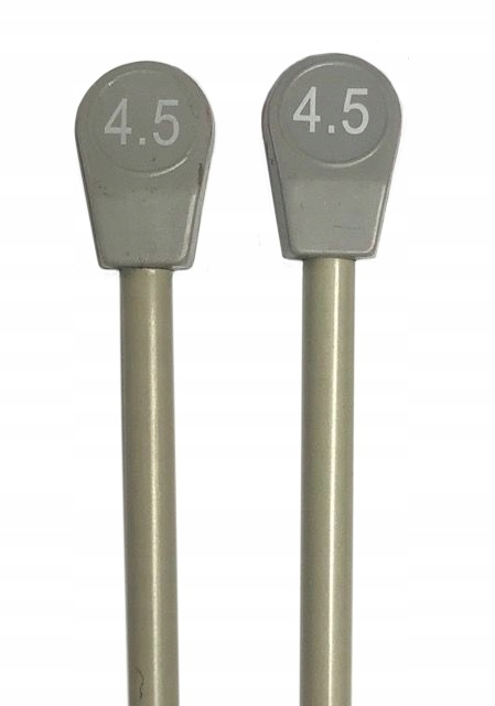 Druty Aluminiowe proste 35cm włóczka wełna nr 4,5