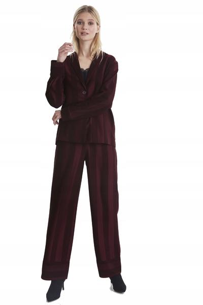 ICHI IHLOLA Komplet w paski żakiet i spodnie S