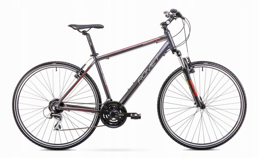 19 Rower Crossowy ROMET ORKAN 2 M grafitowo-czerw