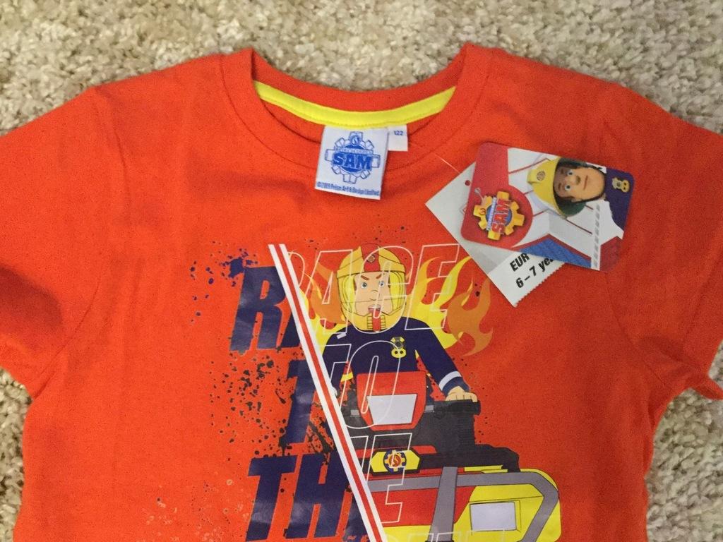 T - shirt chłopięcy - na 122 cm - Strażak Sam