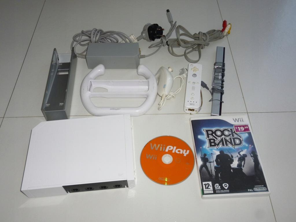 Konsola Nitendo Wii biała pady gra dodatki tanio