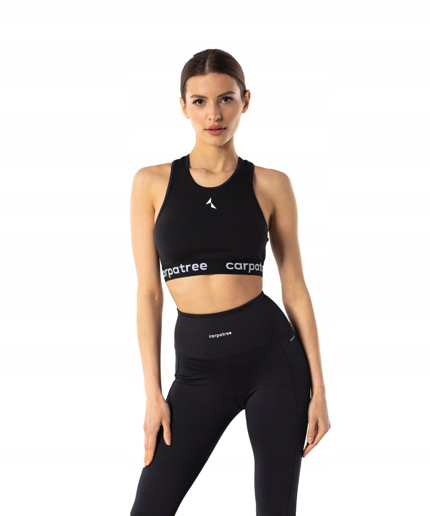 Biustonosz top czarny sport fitness S Carpatree