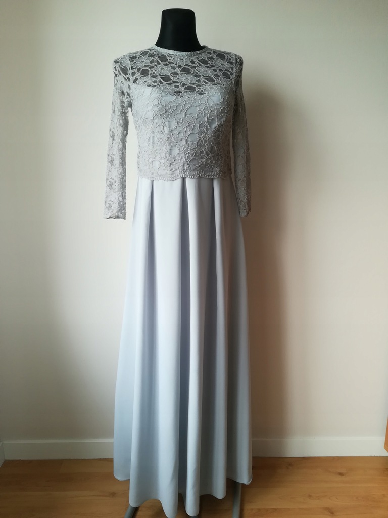 ASOS Długa suknia na wesele z koronką 34 36 XS S