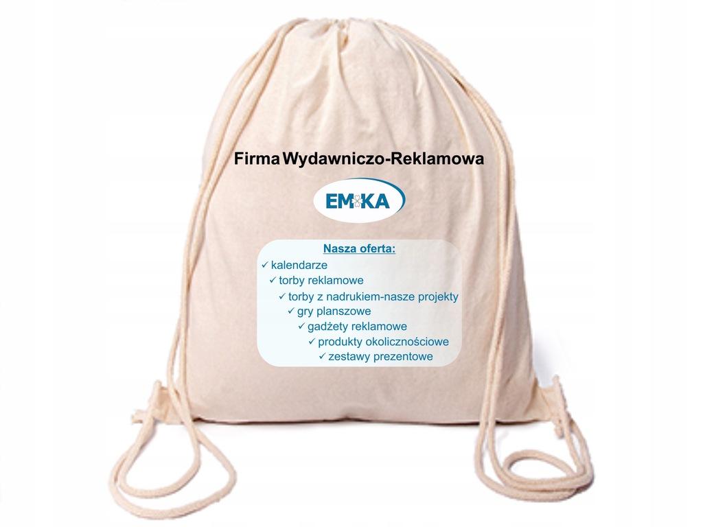Plecak bawełniany Reklama LOGO dla firm DTG 100 sz