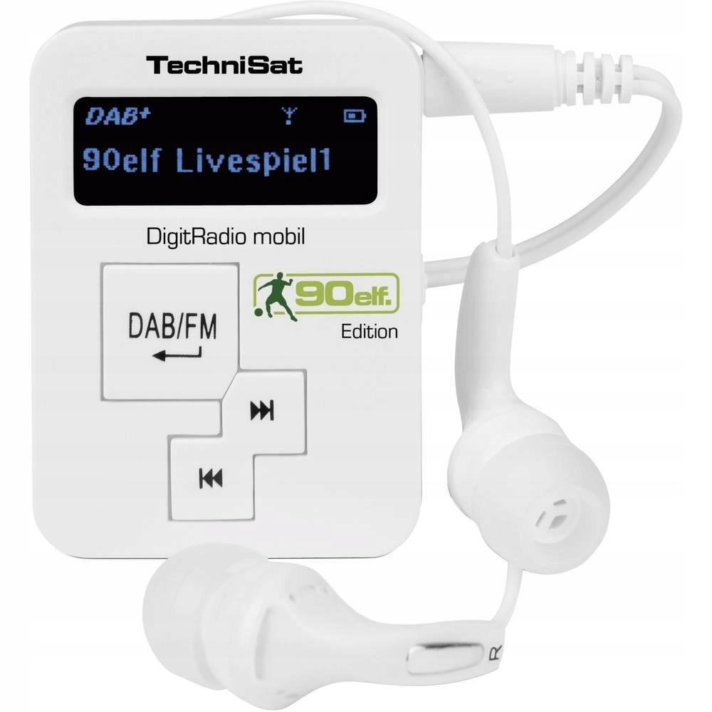 Radio kieszonkowe DAB+ FM TechniSat Mobil białe