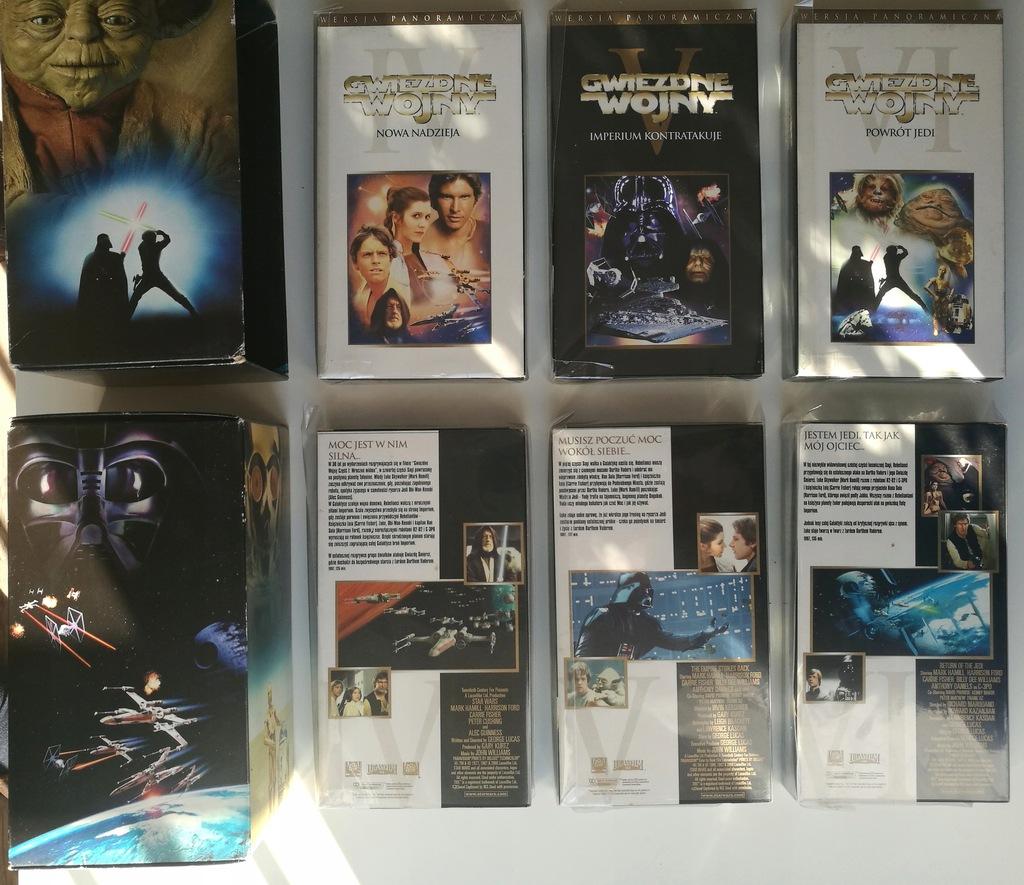 Zestaw Star Wars Gwiezdne Wojny trylogia VHS PL