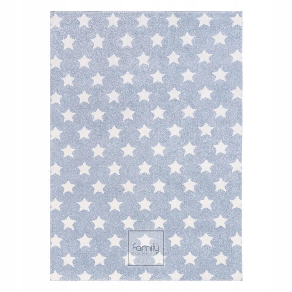 Dywan dla dziecka 120x170 błękitne Gwiazdki
