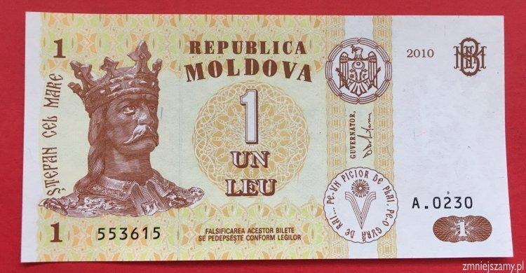 Mołdawia - 1 leu prosto z paczki bankowej dla WOŚP