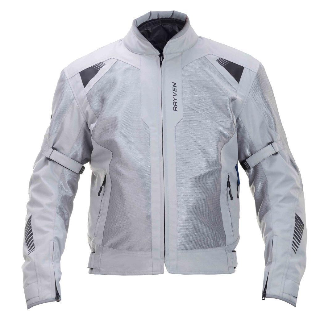 Kurtka motocyklowa RAYVEN Zephyr biało srebrna
