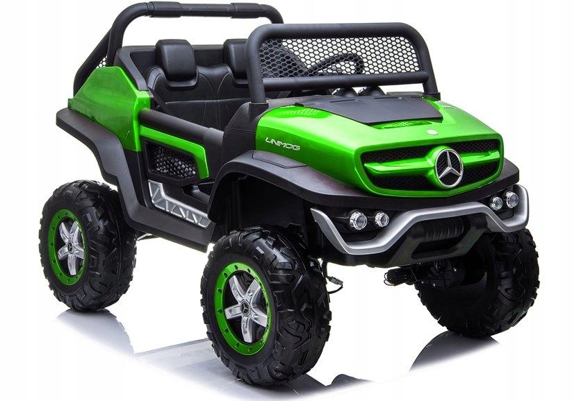Auto na Akumulator Mercedes Unimog Zielony