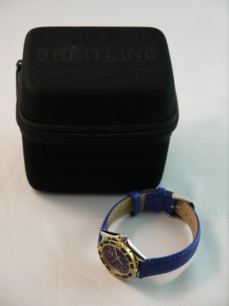 Breitling Lady J stal/złoto BLUE D52065 + etui