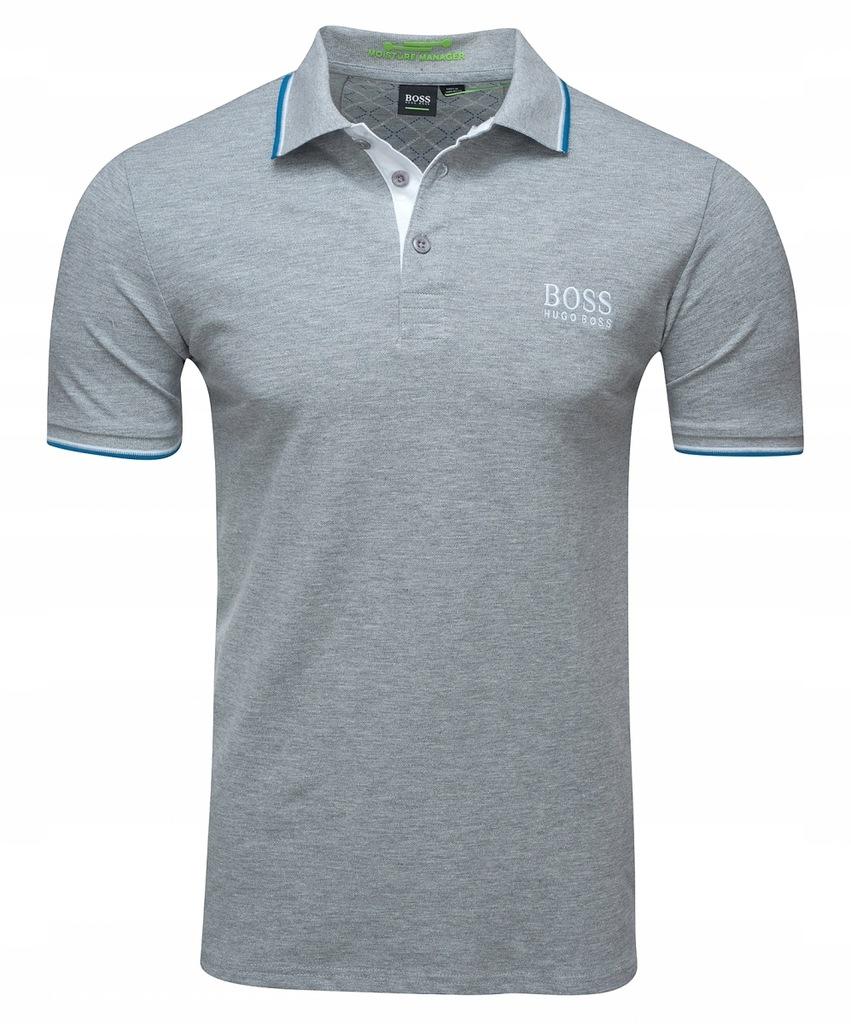 Hugo Boss koszulka polo polówka męska szara /L