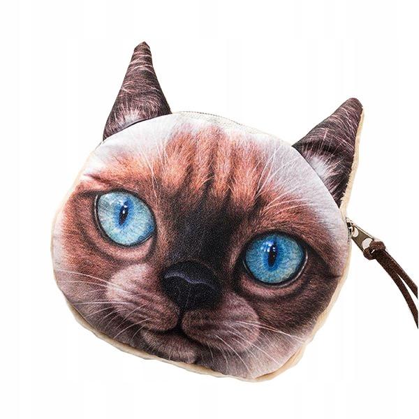 PORTMONETKA KOTEK 3D - kocie etui KOT na PREZENT 1