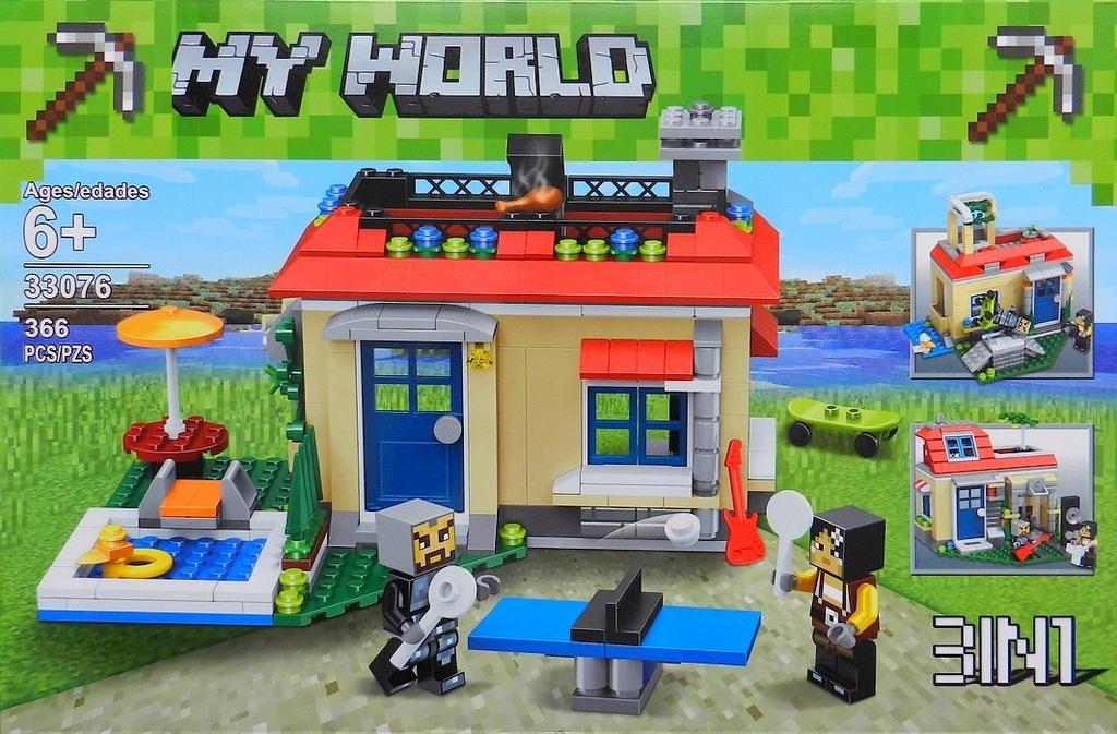 klocki MY WORLD farma zagroda DOMEK 3w1 .jak LEgO