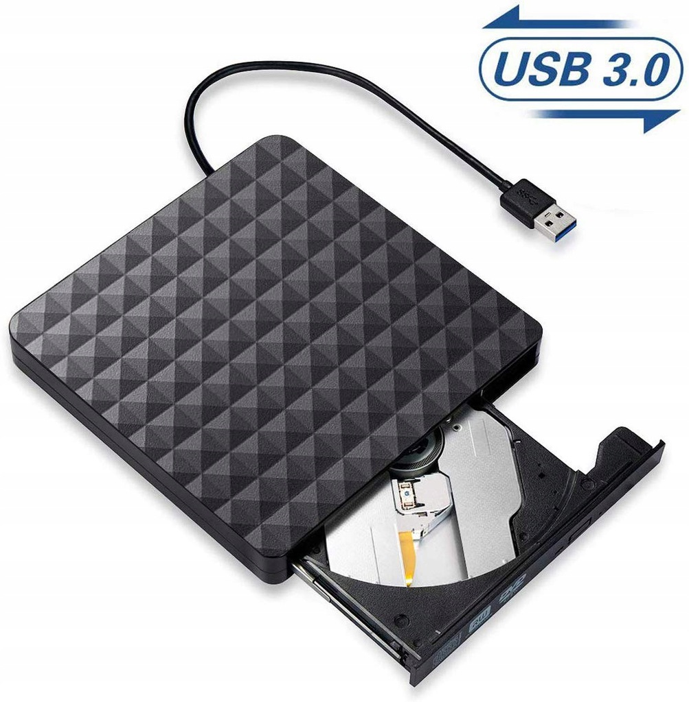 Zewnętrzny napęd opt nagrywarka CD DVD ROM USB 3.0