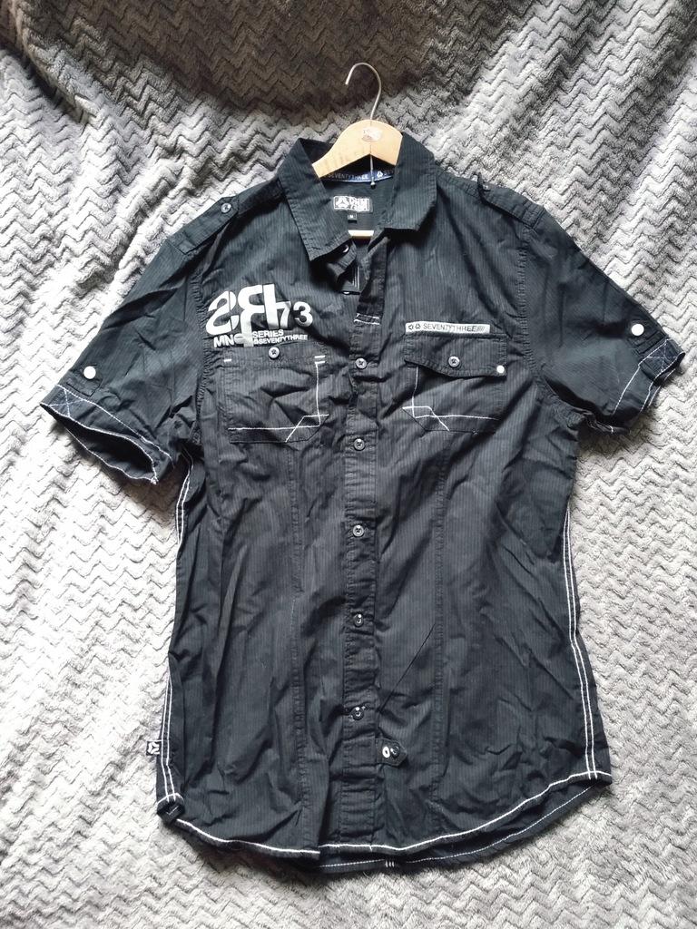 WYPRZEDAŻ SZAFY czarna koszula z napisami M