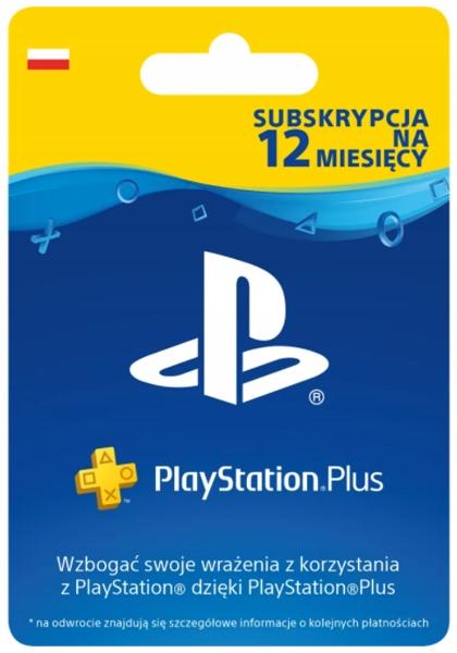 SUBSKRYPCJA Kod PlayStation Plus 12 miesiące PS4/5