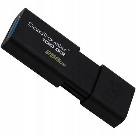 Kingston DataTraveler 100 G3 256 GB, USB 3.0, Blac