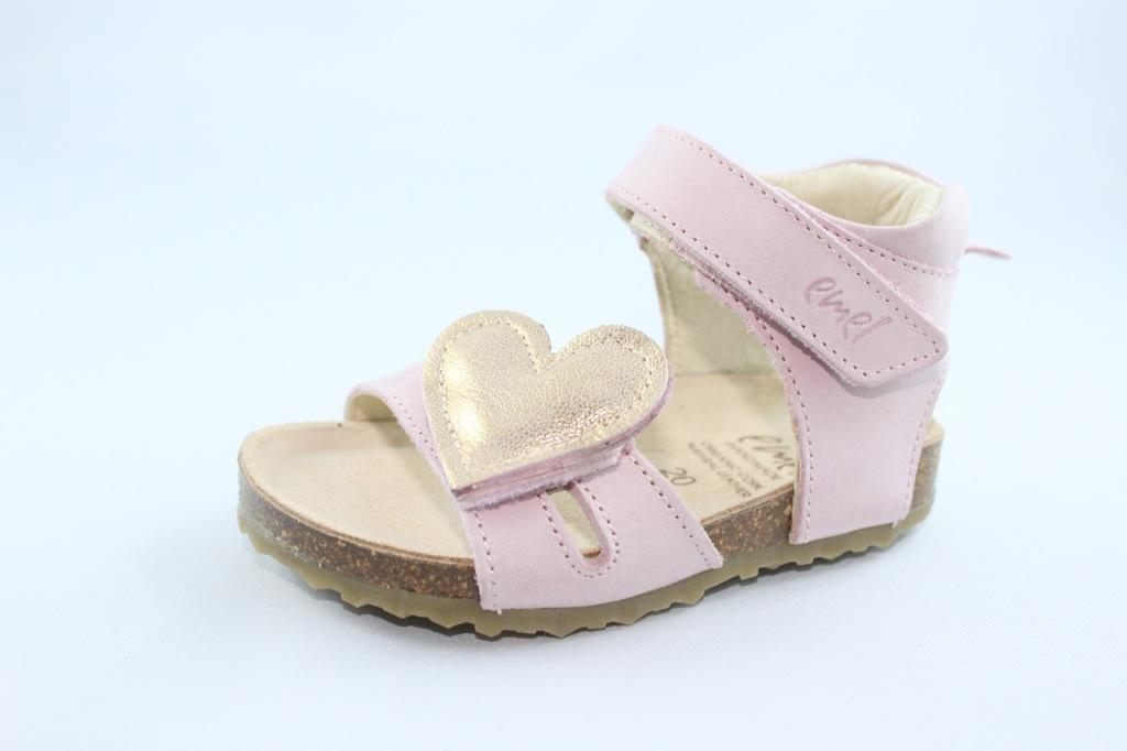 EMEL E2640C sandałki,sandały,fusbet,róż r 20