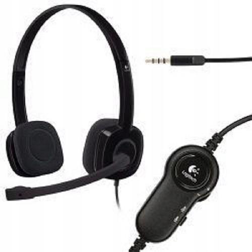 Słuchawki z mikrofonem nauszne Logitech H151 BLACK