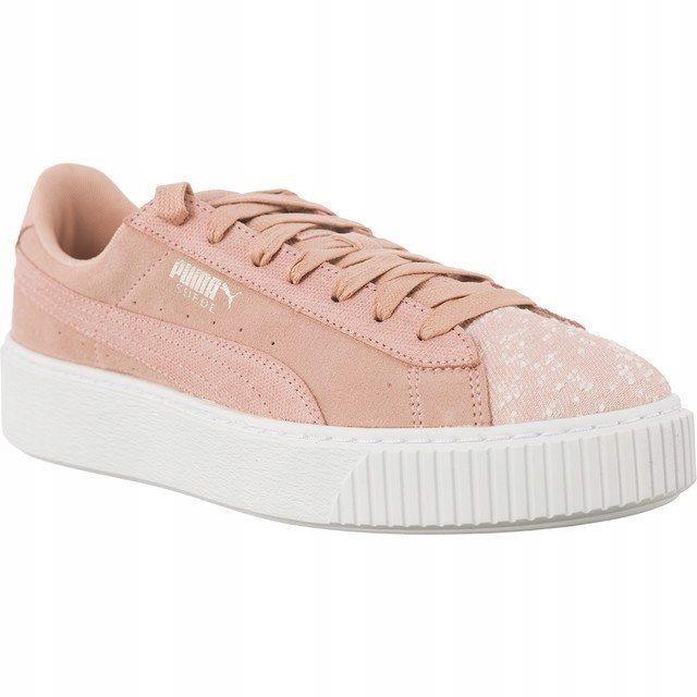 Sneakersy Buty Damskie Puma na platformie zamsz 39