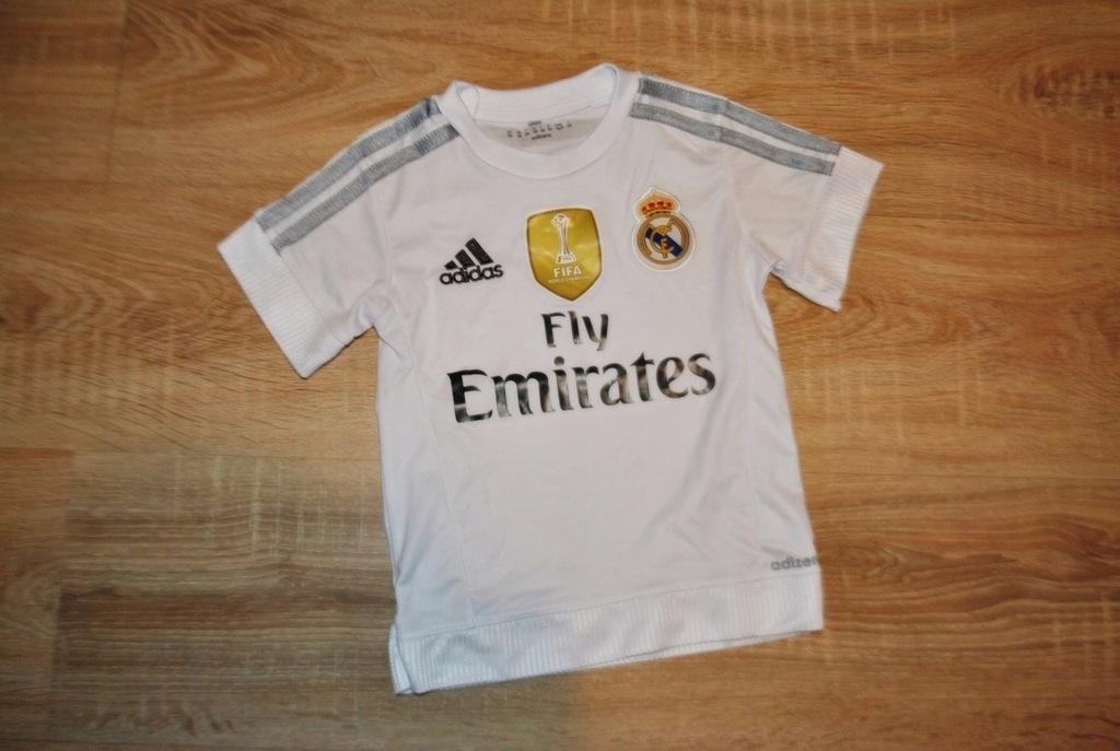 ADIDAS sportowa bluzka koszulka REAL MADRYT 98 BDB