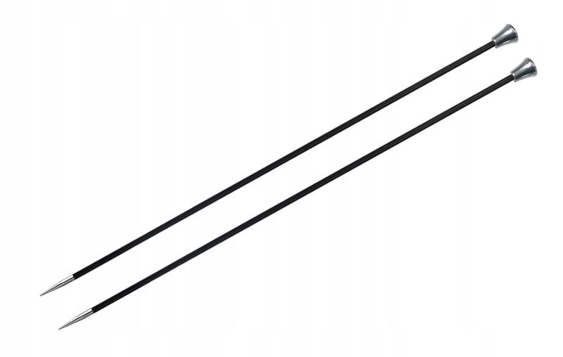Druty KNITPRO karbonowe proste 25cm/2,5mm