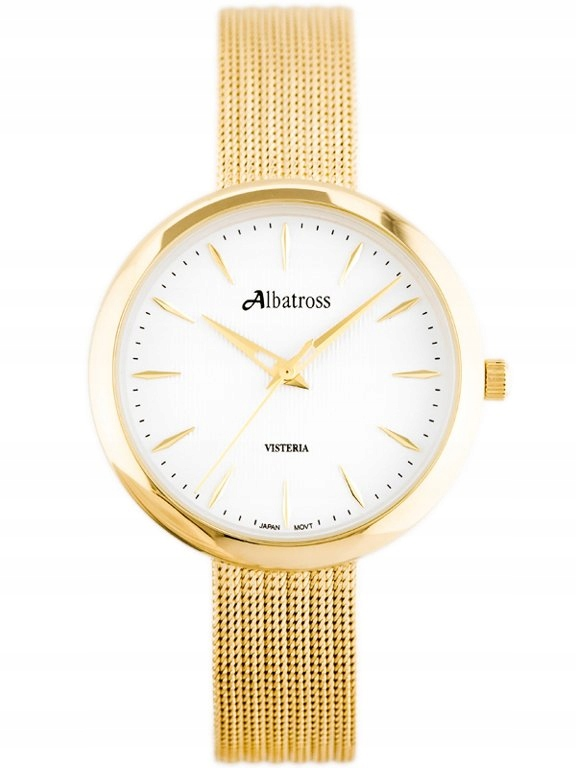 ZEGAREK DAMSKI ALBATROSS ABBC20 (za542c) gold / wh