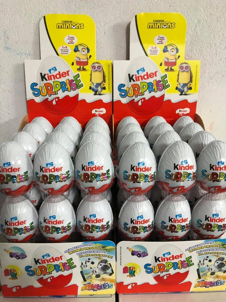 Kinder niespodzianka Jajka 36 szt Minionki Natoons
