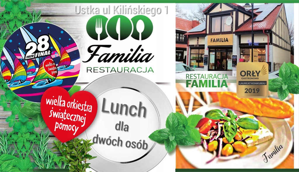 Voucher - lunch w Restauracji Familia w Ustce